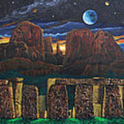 Stonehenge At Cathedral Rock Poster
