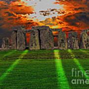 Stonehenge At Solstice Poster by Skye Ryan-Evans