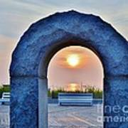 Sunrise Through The Arch - Rehoboth Beach Delaware Poster