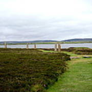 Stones In Arc Of Ring Of Brodgar Poster