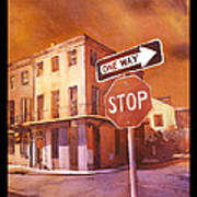 Stop- French Quarter Ahead Poster