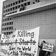 Stop The Killing Say No To Israel Anti-war Protestors Tucson Arizona 1991 Poster