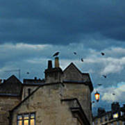 Storm Above Town Poster