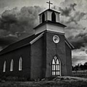 Storm At San Rafael Church Poster