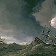 Storm At Sea Poster