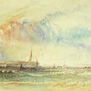 Storm At Sunset, Venice, C.1840 Poster
