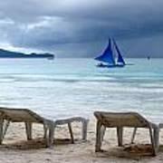 Stormy Beach - Boracay, Philippines Poster