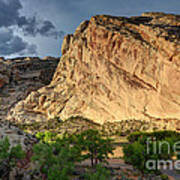 Storm Clouds Above Split Mountain Dinosaur National Monument Poster