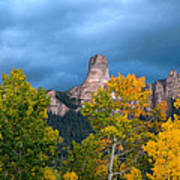 Storm Clouds Over Chimney Rock Poster
