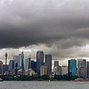 Storm Clouds Over Sydney Poster