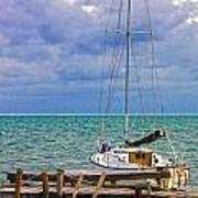 Storm Coming Caye Caulker Belize Poster