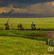 Storm Crossing Prairie 1 Poster by Robert Frederick