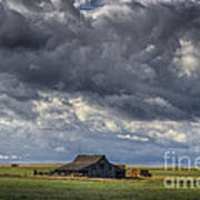 Storm Over Barn Poster