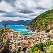 Storm Over Cinque Terre Poster