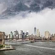 Storm Over Manhattan Downtown Poster