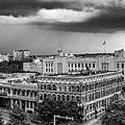 Storm Over San Antonio Texas Skyline Poster