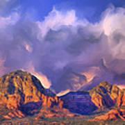 Storm Over Sedona Poster