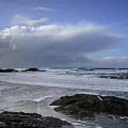 Storm Rolling In Wickaninnish Beach Poster