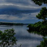 Storm Rolling Over Lake Wausau Poster