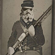 Storm Trooper Star Wars Antique Photo Poster by Tony Rubino