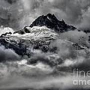 Storms Over Glaciers And Rugged Peaks Poster