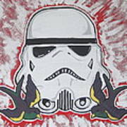 Stormtrooper Tattoo Art Poster by Gary Niles