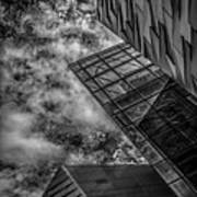 Stormy Clouds Over Modern Building Poster