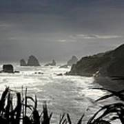 Stormy Coast New Zealand Poster