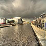 Stormy Day At Alphen Aan Den Rijn Poster