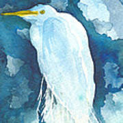 Stormy Egret Poster