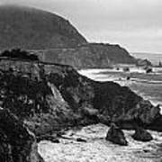 Stormy Hwy 1 Coast Poster by Kathy Yates