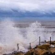Stormy Seafront - Impressions Poster