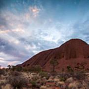 Stormy Sky Over Uluru Poster