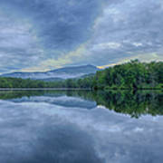 Stormy Sunrise Over Price Lake - Blue Ridge Parkway I Poster by Dan Carmichael