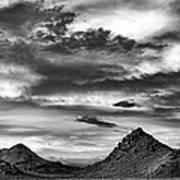 Stormy Sunset Over Nevada Desert Poster