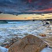 Stormy Sunset Seascape Poster