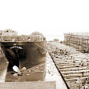 Str. Harvard In The Slip, Detroit, Harvard Freighter, Cargo Poster