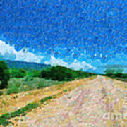 Straight Road In Ethiopia Painting Poster