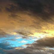 Stratus Clouds At Sunset Bring Serenity Poster