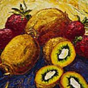 Strawberries And Kiwis Poster