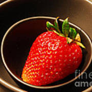 Strawberry In Nested Bowls Poster