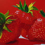 Strawberry Red Poster