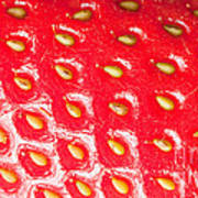 Strawberry Texture Poster