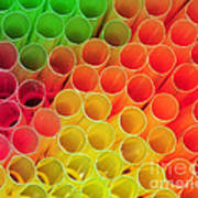 Straws In Color Poster