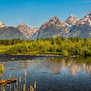 Stream At The Tetons Poster