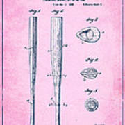 Streamlined Baseball Bat Or The Like Pink Us 2169774 A Poster