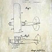 1929 Stearman Patent Drawing Poster
