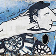 Street Art Santiago Chile Poster