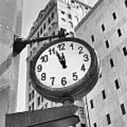 Street Clock Poster