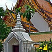Street Entry To Wat Po In Bangkok-thailand Poster